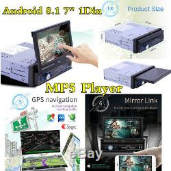 1 Din 7 Android 8.1 Car MP5 Multimedia Player Bluetooth FM Radio GPS Sat Navi