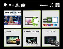 10.1 1Din Android 9.1 Head Unit Bluetooth GPS Nav Car Radio Stereo MP5 Player