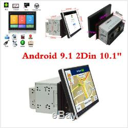 10.1 Android 9.1 Double Din Car GPS MP5 Player BT Wifi 3G 4G OBD DVR TPMS MLK