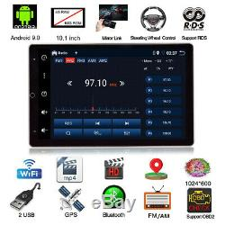 10.1in Android 9.0 1Din Car Wifi Bluetooth Stereo Radio MP5 Player GPS Navi 4+64