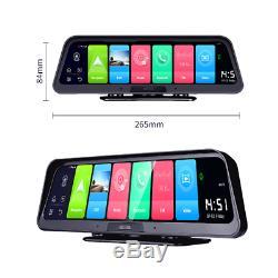 10 Android 8.1 Car Dash Cam 4G WiFi ADAS Dual Lens DVR Camera GPS Navigation