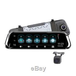 10Inch 4G Car Rearview Mirror DVR Camera Dual Lens Android 5.1 Dash Cam Recorder