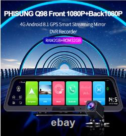 10in 4G WiFi Android 8.1 Dash Cam Car Central Console DVR Camera Recorder 2G+32G