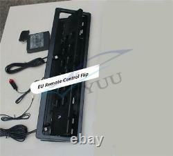 12V EU Standard Remote Control Flip Retractable Car SUV License Plate Frame 1Pcs