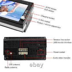 2 DIN 7'' Car Stereo Radio Player GPS BT 2 USB AUX DAB Receiver Rearview Camera