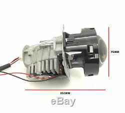 2 x 3 Full Bi-LED Retrofit Projectors Lens H1 H7 H4 Halo Shroud Xenon HID White