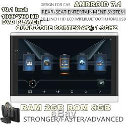 210.1HD Android 7.1 Quad-Core Car Headrest Monitors 3G/4G BT HDMI Touch Screen