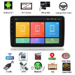 2Din 10.1in Android9.1 Car Stereo Radio Bluetooth GPS Sat Nav WiFi FM MP5 Player