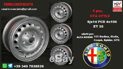 4 Cerchi lega Alfa Romeo Giulia GTA 6x14 4x108 14 pollici felgen wheels llantas