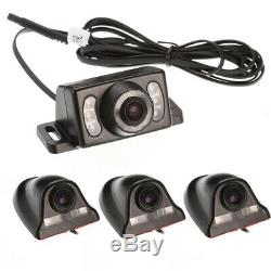 4CH 720P Panoramic 360°Car DVR Video Recorder Real-Time SD+4Cameras+7'' Monitor