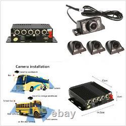 4G Wirless GPS 4CH PLA NTSC Car Realtime Video Recorder Remote&4HD 580TVL Camera