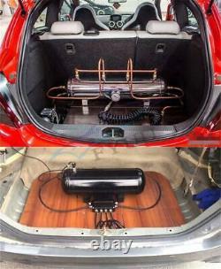 52mm 7-Color Air Suspension Pressure Gauge Bar PSI Air Ride Meter 1/8NPT Sensor