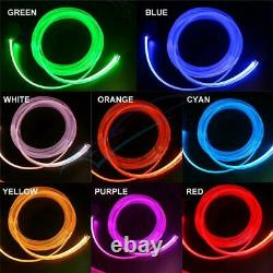 64Color DIY 1-In-10 No Threading Ambient Light Atmosphere Lamps Optic Fiber Band