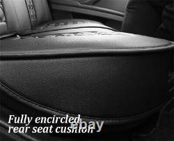 6D Full Surround Seat Covers Luxury PU Leather Seat Cushions Set For 5-Seats Car
