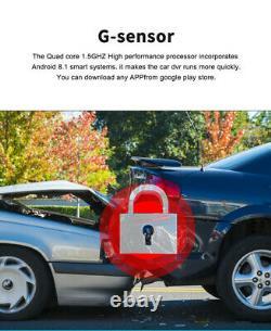 8 HD Android 8.1 Car Dash Cam 4G WiFi ADAS Dual Lens DVR Camera GPS Navgation