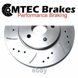ALFA ROMEO GT GTA 3.2 2004- FRONT MTEC DRILLED & GROOVED BRAKE DISCS 330mm