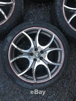 Alfa Romeo 147 Ducati Corse 18 Alloy Wheels & Tyres Set Of 4 156 GT GTA