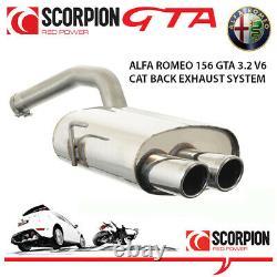 Alfa Romeo 156 GTA 3.2 V6 Sportswagon Estate Scorpion Stainless Steel Exhaust