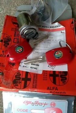 Alfa Romeo 156 Genuine Nos Ignition Lock Set + Code Card Early Model Not 147 Gta