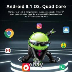 Android 8.1 8in FHD Car DVR Dash Cam GPS Nav Wifi ADAS Recorder +Rearview Camera