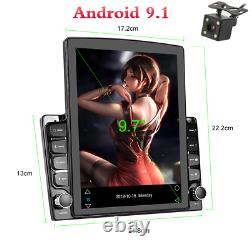 Android 9.1 9.7in Car Dash Stereo Radio GPS Navigation 1+16GB Wifi BT With Camera