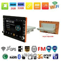 Android8.1 9in 1Din Bluetooth Car Stereo Radio GPS Navi Wifi FM MP5 Player 2+32G