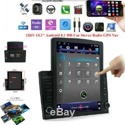 Bluetooth Car MP5 Multimedia Player Stereo GPS Sat Navi Radio Android 8.1 10.1In