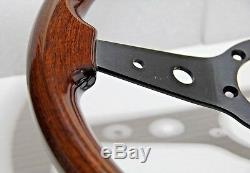 CLASSIC WOOD STEERING WHEEL 340mm 13.4 LUISI MONTREAL MAHOGANY MADE IN ITALY