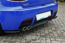 CUP Diffusor für Alfa Romeo 147 GTA Heckansatz FLaps Splitter Ansatz Rippen ABS
