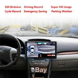 Car 1080P HD 360° 4CH Surround Bird View System DVR ADAS With Light Night Vision