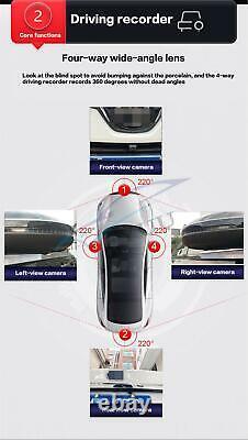 Car 360° 3D Panoramic Camera Bird Eye Surround View Parking Monitor DVR System