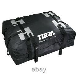 Car SUV Top Roof Bag Trunk Cargo Luggage Waterproof Travel Storage Bag Black