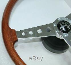 Classic Alfa Romeo Gta Wood Steering Wheel Hellebore With Hub Boss Brand New