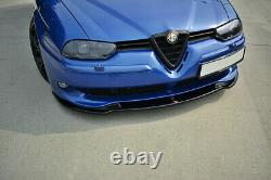 Cup Spoilerlippe Front Ansatz V. 1 passend für ALFA ROMEO 156 GTA schwarz matt