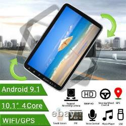 Double 2Din 10.1in Android 9.1 Car FM Stereo Radio MP5 Player GPS Sat Nav Camera
