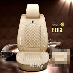 Full Set 5D Surrounded Leather Seat Cover Cushions For Car Interior Accessories