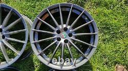 Genuine Alfa Romeo GT Jetfins 18 Alloy Wheels 156 147 GTA GTV TOORA GUNMETAL