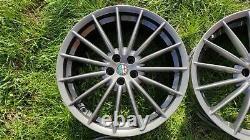 Genuine Alfa Romeo GT Jetfins 18 Alloy Wheels TOORA 156 147 GTV GTA Spider GREY