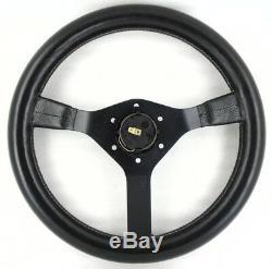 Genuine Momo Cavallino 350mm leather steering wheel. Alfa Romeo, Spider etc 7B