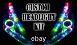 LED RGB Head Light Halo Angel Eye DRL Daylight Bluetooth Light Retrofit