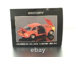 Minichamps 118 Alfa Romeo GTA 1300 Junior DRM 1972 Modell Nr 100 721283