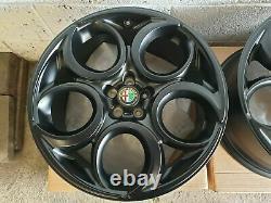 New Genuine Alfa Romeo Set Of 4x 19 Teledial 4c Alloy Wheels, 156,147, Gta, Gtv