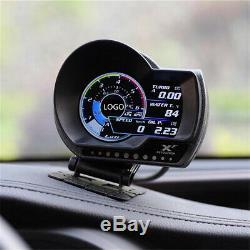 OBDII Plug & Play Car Multi-Gauge Turbo Boost Gauge Water Temp Speed Oil Meter