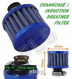 OIL MINI BREATHER AIR FILTER FUEL CRANKCASE ENGINE CAR BLUE Alfa Romeo