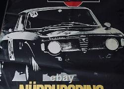 Original 1970 Nurburgring 6 Hours Etcc Tourenwagen Race Poster Alfa Romeo Gta