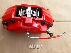 Pair Brembo 4 Pot Brake Caliper Hose Upgrade Alfa Romeo Gtv Spider 147 156 Gta
