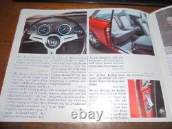 Prospekte Sales Brochures Alfa Romeo Giulia Sprint GT GTA Sportwagen Racing Car
