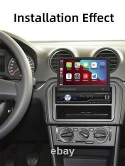 Retractable 7 Car Stereo Radio MP5 Player Carplay Bluetooth Single DIN Headunit