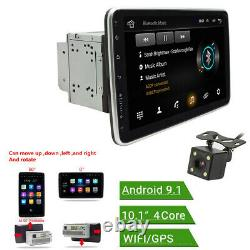Rotatable 10.1in 2Din Car MP5 Player Android 9.1 Radio Stereo GPS WiFi FM+Camera