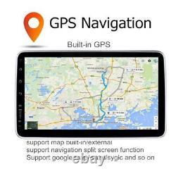 Single DIN Android 9.1 Car Stereo MP5 Player WiFi GPS Navi Radio 10.1in +Camera